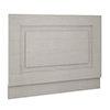 York 750mm Grey Traditional End Bath Panel & Plinth profile small image view 1