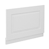 York 750mm White Ash Traditional End Bath Panel & Plinth profile small image view 1