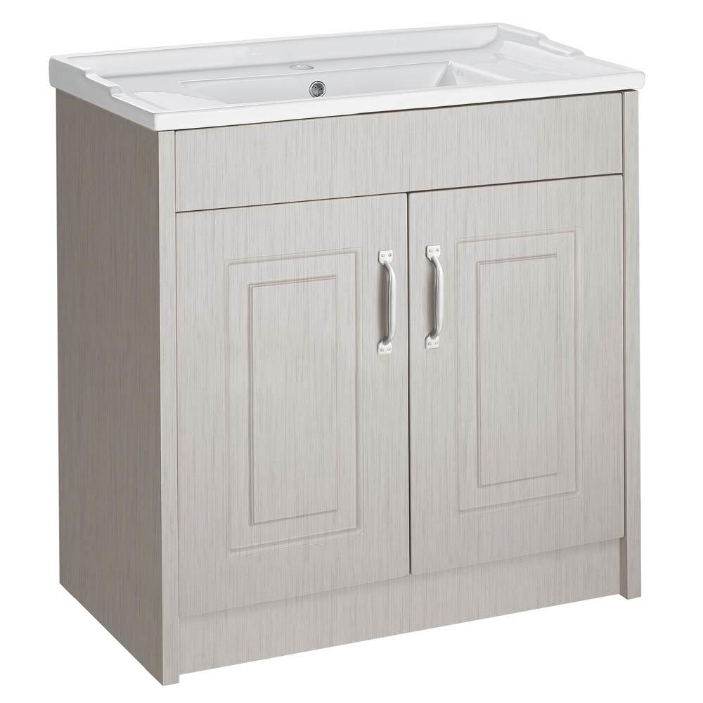 York Traditional Grey Bathroom Basin Unit (800 x 460mm)