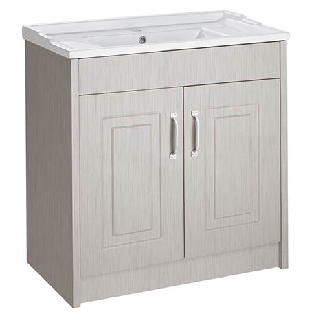 York Traditional Grey Bathroom Basin Unit (800 x 460mm)