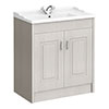 York Traditional Grey Bathroom Basin Unit (820 x 480mm) profile small image view 1