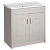 York Traditional Grey Bathroom Basin Unit (800 x 460mm) profile small image view 1