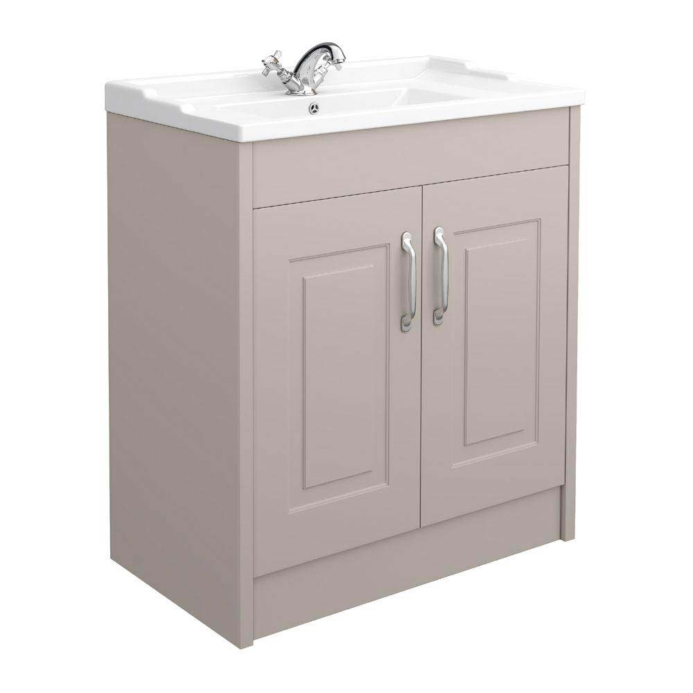 York Traditional Grey Bathroom Basin Unit (800 x 460mm) profile large image view 1