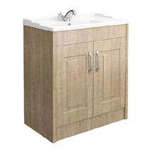 York Traditional Wood Finish Bathroom Basin Unit (800 x 460mm) Medium Image