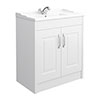 York Traditional White Ash Bathroom Basin Unit (820 x 480mm) profile small image view 1
