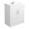 York Traditional White Ash Bathroom Basin Unit (800 x 460mm) profile small image view 1