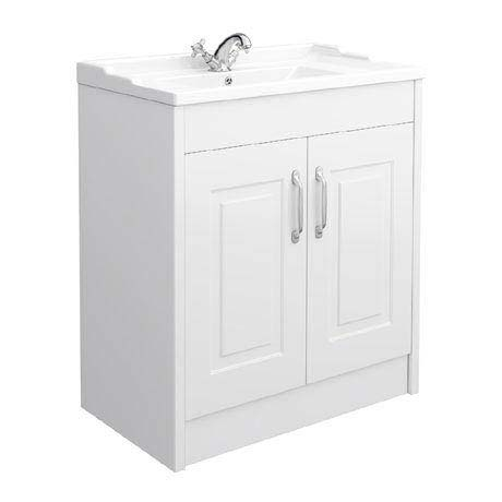 York Traditional White Bathroom Basin Unit (800 x 460mm)