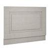 York 800mm Grey Traditional End Bath Panel & Plinth profile small image view 1