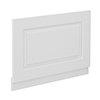 York 800mm White Ash Traditional End Bath Panel & Plinth profile small image view 1