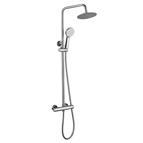Dual Control Bar Shower Valve with Fixed Head and Slide Rail - Chrome