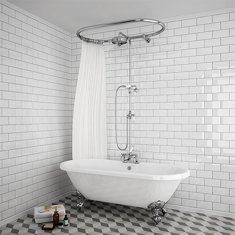 Bath With Shower Over chatsworth 1928 traditional over-bath shower system | victorian
