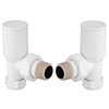 Modern White Angled Radiator Valves profile small image view 1