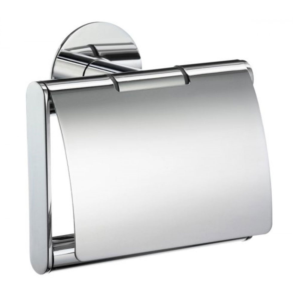 Smedbo Time Toilet Roll Holder with Lid - Polished Chrome - YK3414 Large Image
