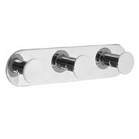 Smedbo Time Triple Towel Hook - Polished Chrome - YK359