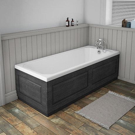 York 1700 x 700 Single Ended Bath Inc. Dark Grey Panels