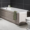 York 1700 x 700 Single Ended Bath Inc. Grey Panels profile small image view 1