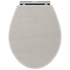 York Grey Top Fixing Soft Close Toilet Seat