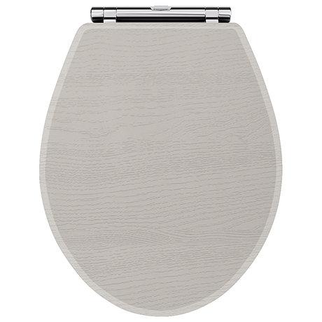 York Grey Top Fixing Soft Close Toilet Seat