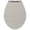 York Grey Top Fixing Soft Close Toilet Seat profile small image view 1