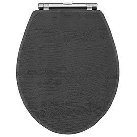 York Dark Grey Top Fixing Soft Close Toilet Seat