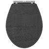 York Dark Grey Top Fixing Soft Close Toilet Seat profile small image view 1
