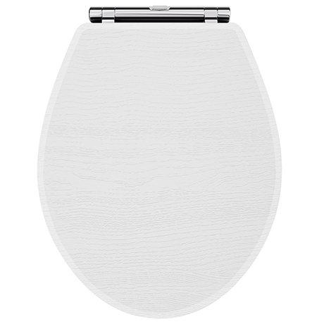 York White Ash Top Fixing Soft Close Toilet Seat