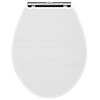 York White Ash Top Fixing Soft Close Toilet Seat profile small image view 1