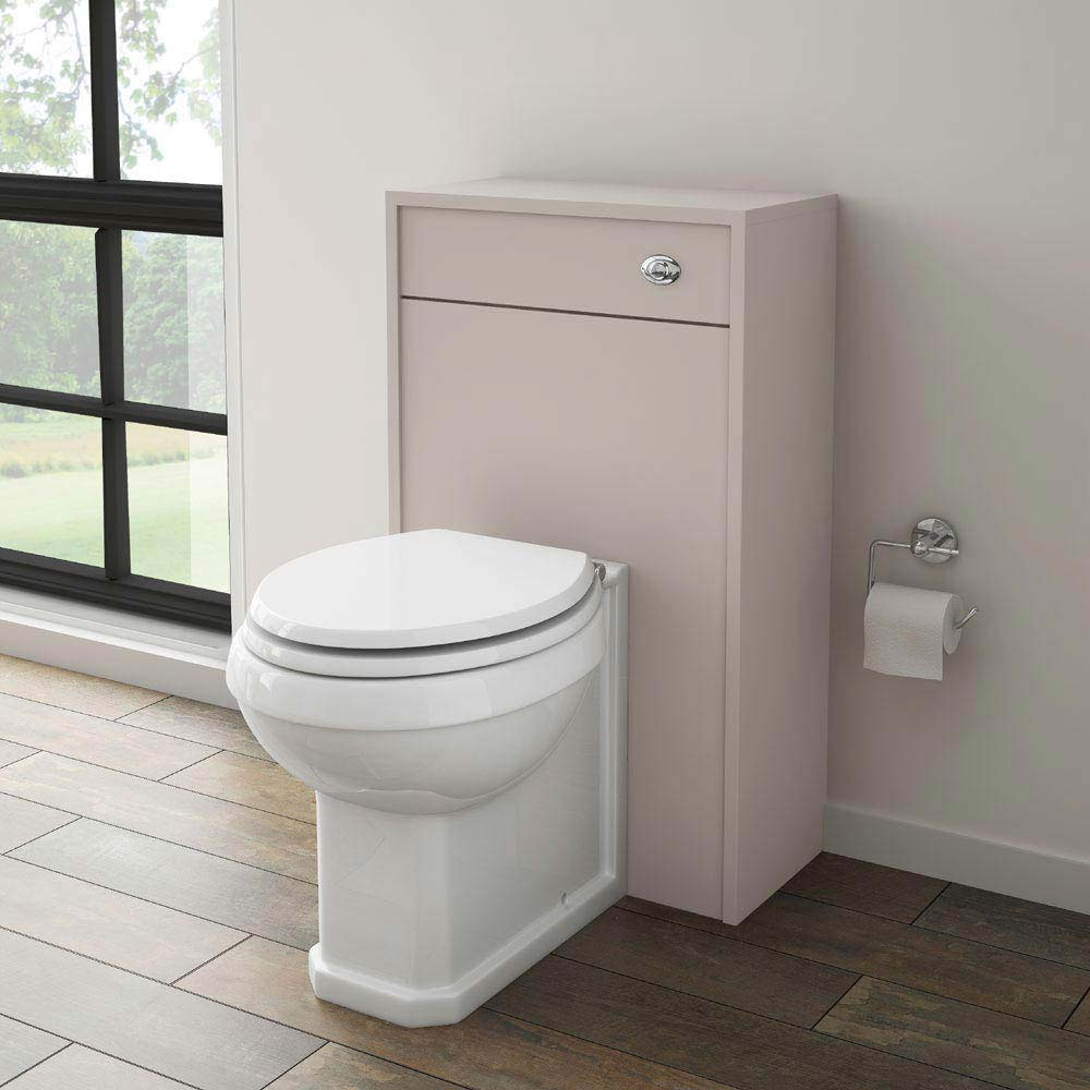 York Traditional Grey BTW WC Unit with Pan & Seat Standard Large Image