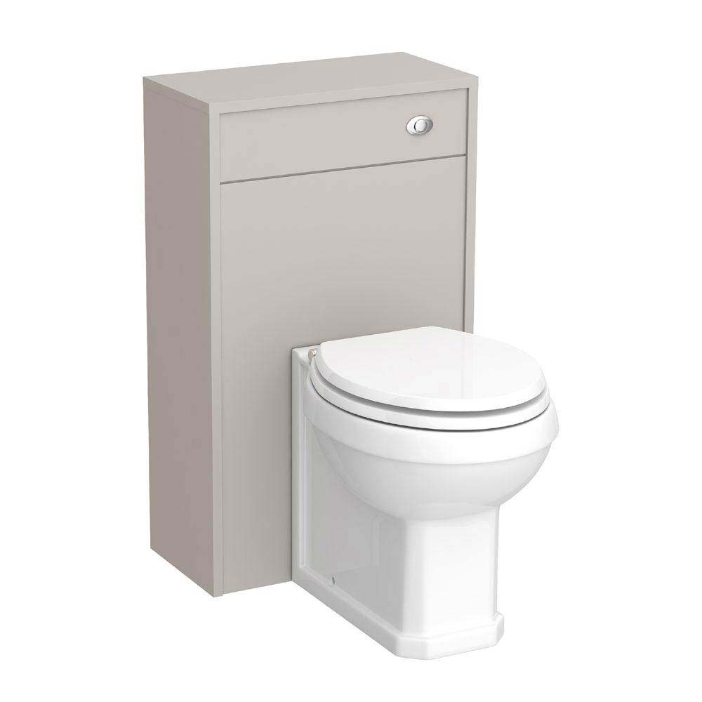 York Traditional Grey BTW WC Unit with Pan & Seat Large Image