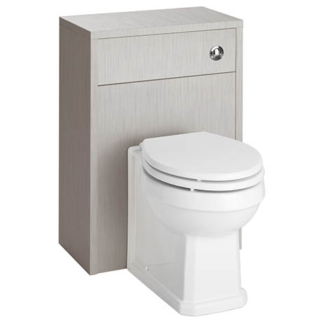 York Traditional Grey BTW WC Unit with Pan & Top-Fixing Seat
