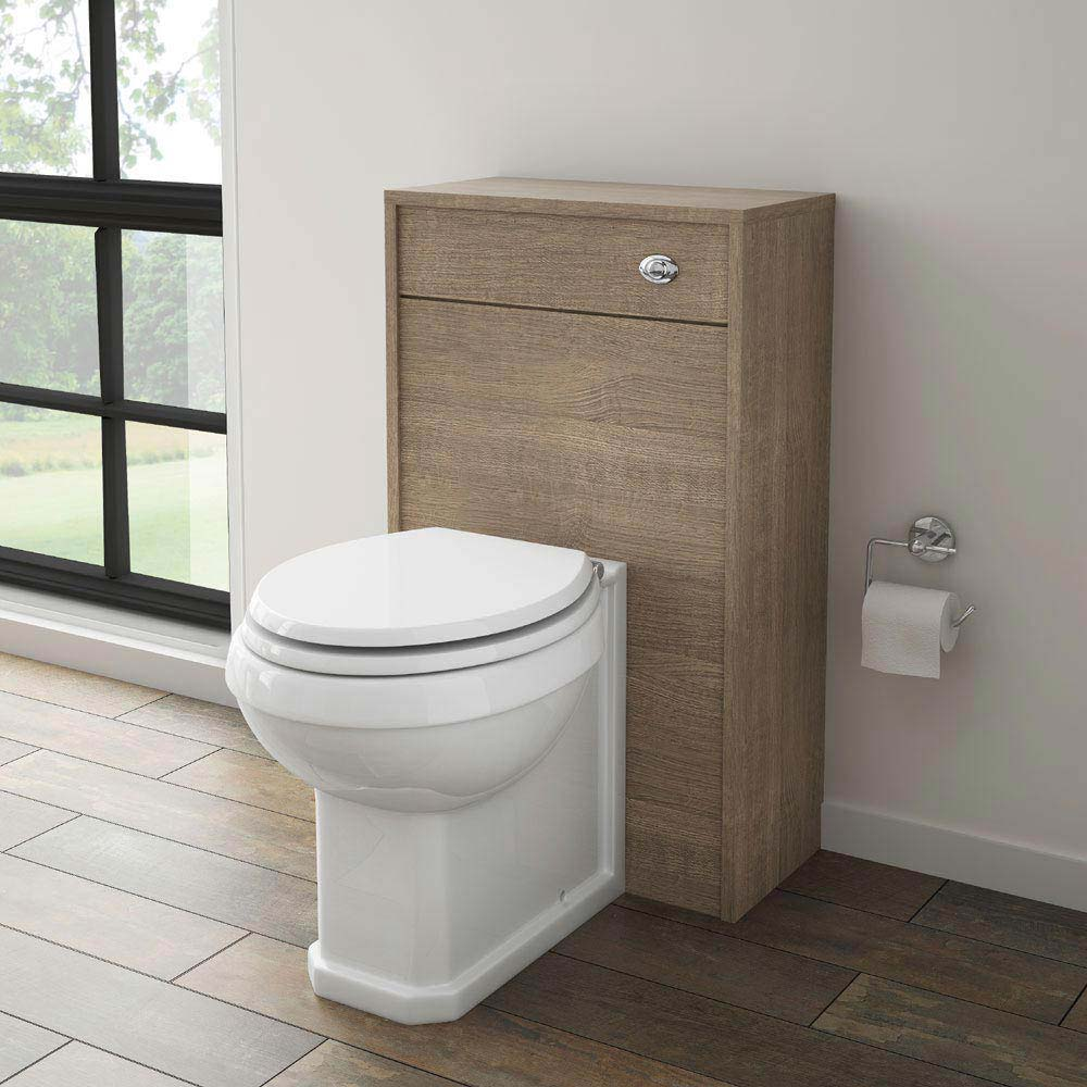 York Traditional Wood Finish BTW WC Unit with Pan & Seat Standard Large Image