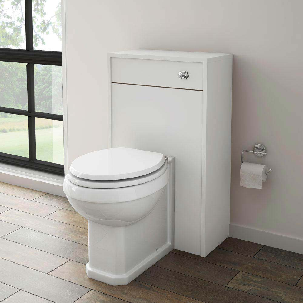 York Traditional White BTW WC Unit with Pan & Top-Fixing Seat profile large image view 2