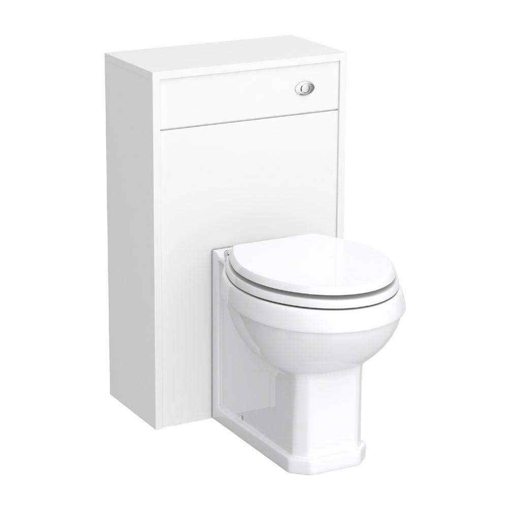 York Traditional White BTW WC Unit with Pan & Seat Large Image