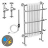 Yale Traditional Wall Hung Towel Rail Radiator (Inc. Valves + Electric Heating Kit) profile small image view 1