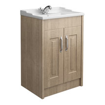 York Traditional Wood Finish Bathroom Basin Unit (600 x 460mm) Medium Image