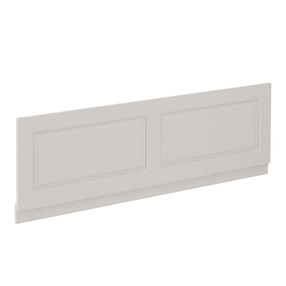 York Grey Traditional Front Bath Panel & Plinth - 1700mm profile large image view 1