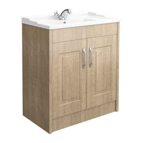 York Traditional Wood Finish Bathroom Basin Unit (820 x 480mm)