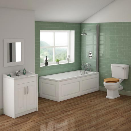 York Traditional Bathroom Suite (1700 x 700mm)