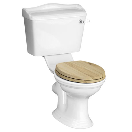 York Traditional Close Coupled Toilet + Soft Close Seat