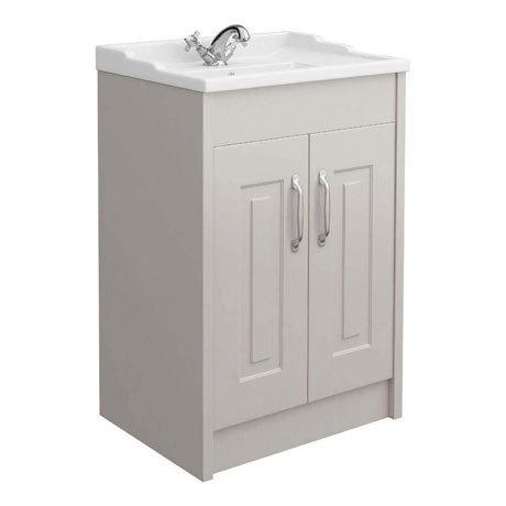 York Traditional Grey Bathroom Basin Unit (600 x 460mm)