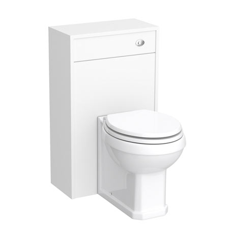 York Traditional White Ash BTW WC Unit with Pan & Top-Fixing Seat