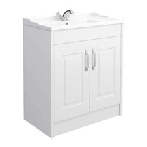 York Traditional White Bathroom Basin Unit (800 x 460mm) Medium Image