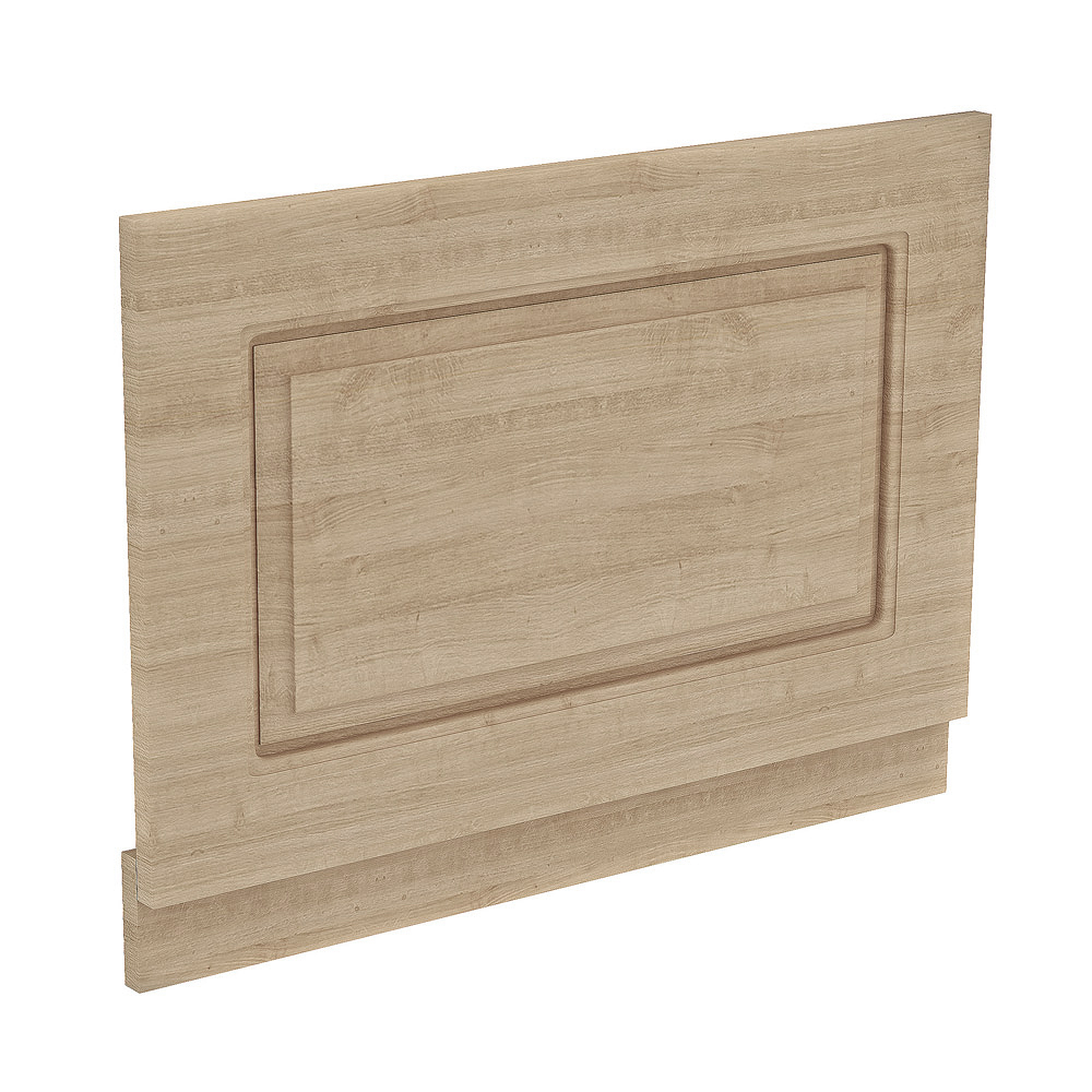 York Wood Finish Traditional End Bath Panel & Plinth - 700mm profile large image view 1