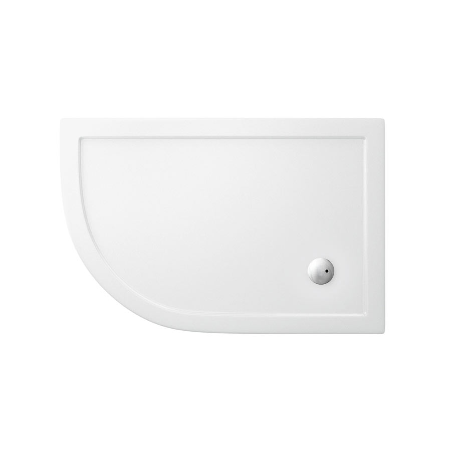 Zamori - 35mm Offset Quadrant Anti-Bacterial Shower Tray - Left Hand