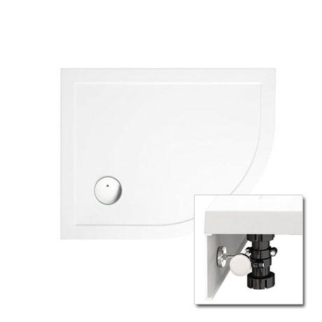 Zamori - 35mm Offset Quadrant Shower Tray with Leg & Panel Set - Right Hand - Various Size Options