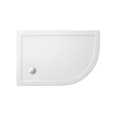 Zamori - 35mm Offset Quadrant Anti-Bacterial Shower Tray - Right Hand