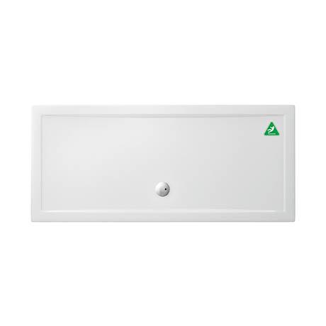 Zamori White Rectangular 35mm Anti-Bacterial Shower Tray with Anti-Slip - 1800 x 800mm