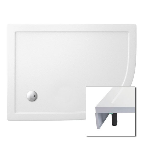 Cleargreen - 35mm Offset Quadrant Shower Tray with Leg & Panel Set - 900 x 1200mm - Right Hand Large Image