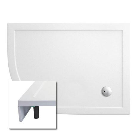 Cleargreen - 35mm Offset Quadrant Shower Tray with Leg & Panel Set - 900 x 1200mm - Left Hand