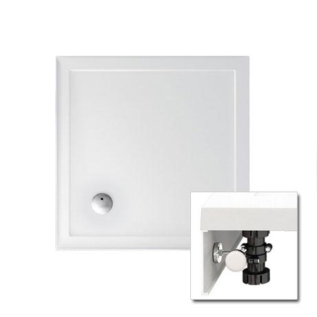 Zamori - 35mm Square Shower Tray with Upstand and Leg & Panel Set - Various Size Options